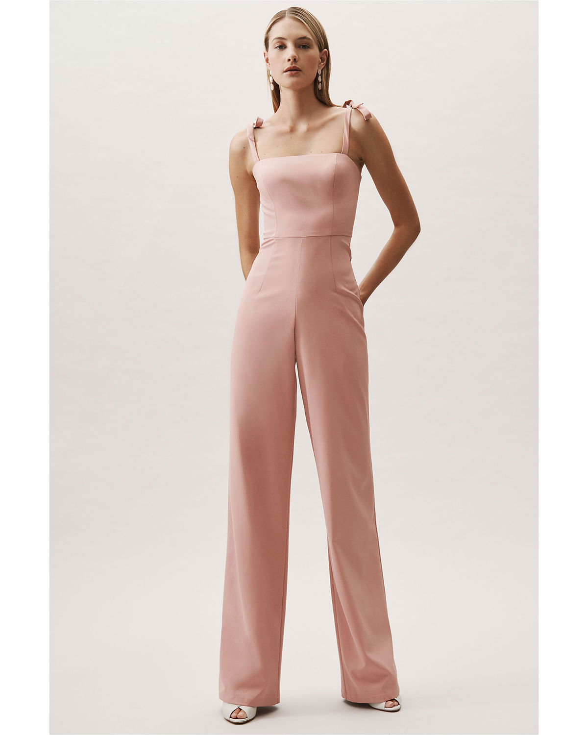 "light pink ""trinity"" jumpsuit"