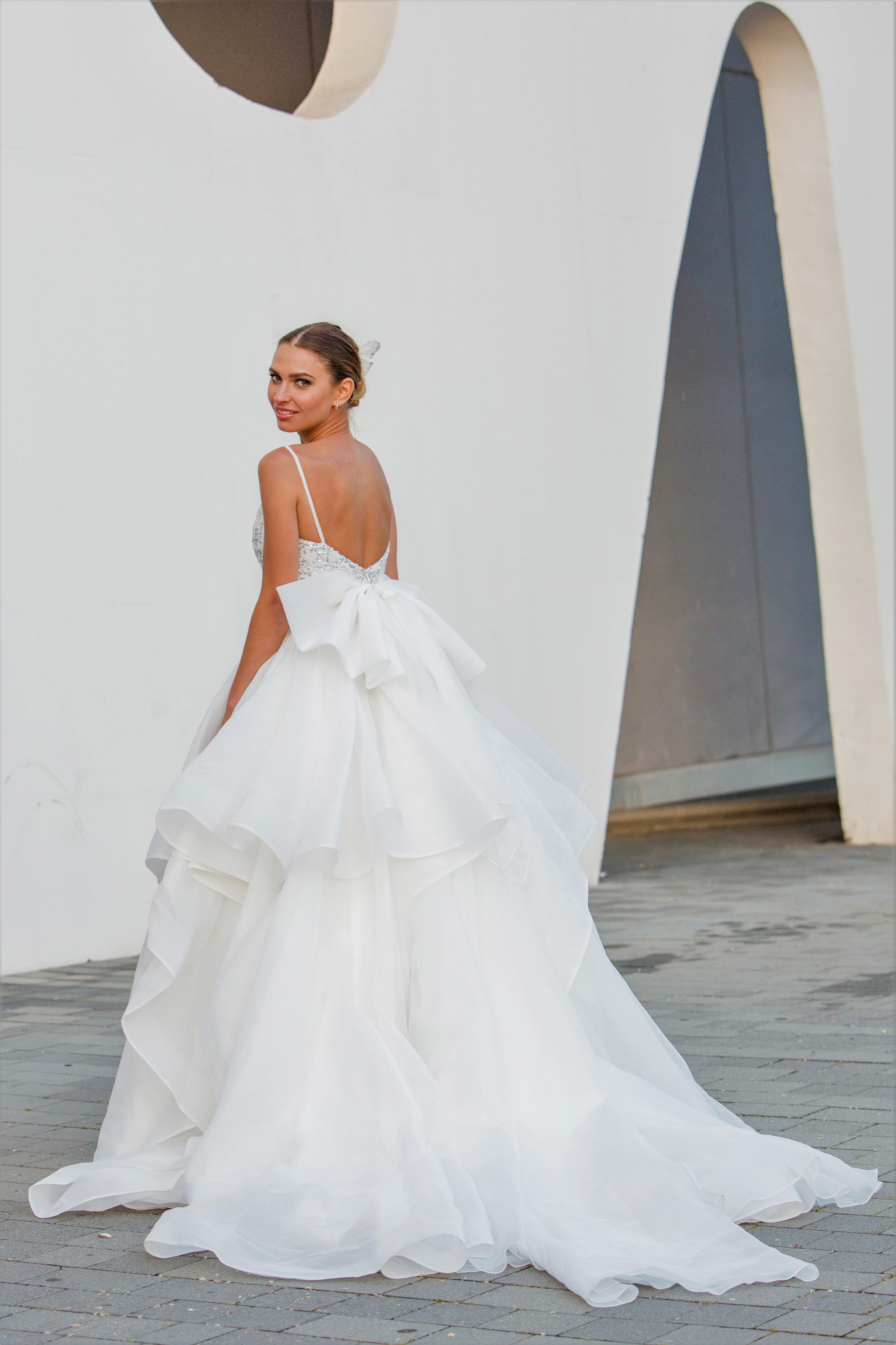 spaghetti straps ball gown persy wedding dress spring2018