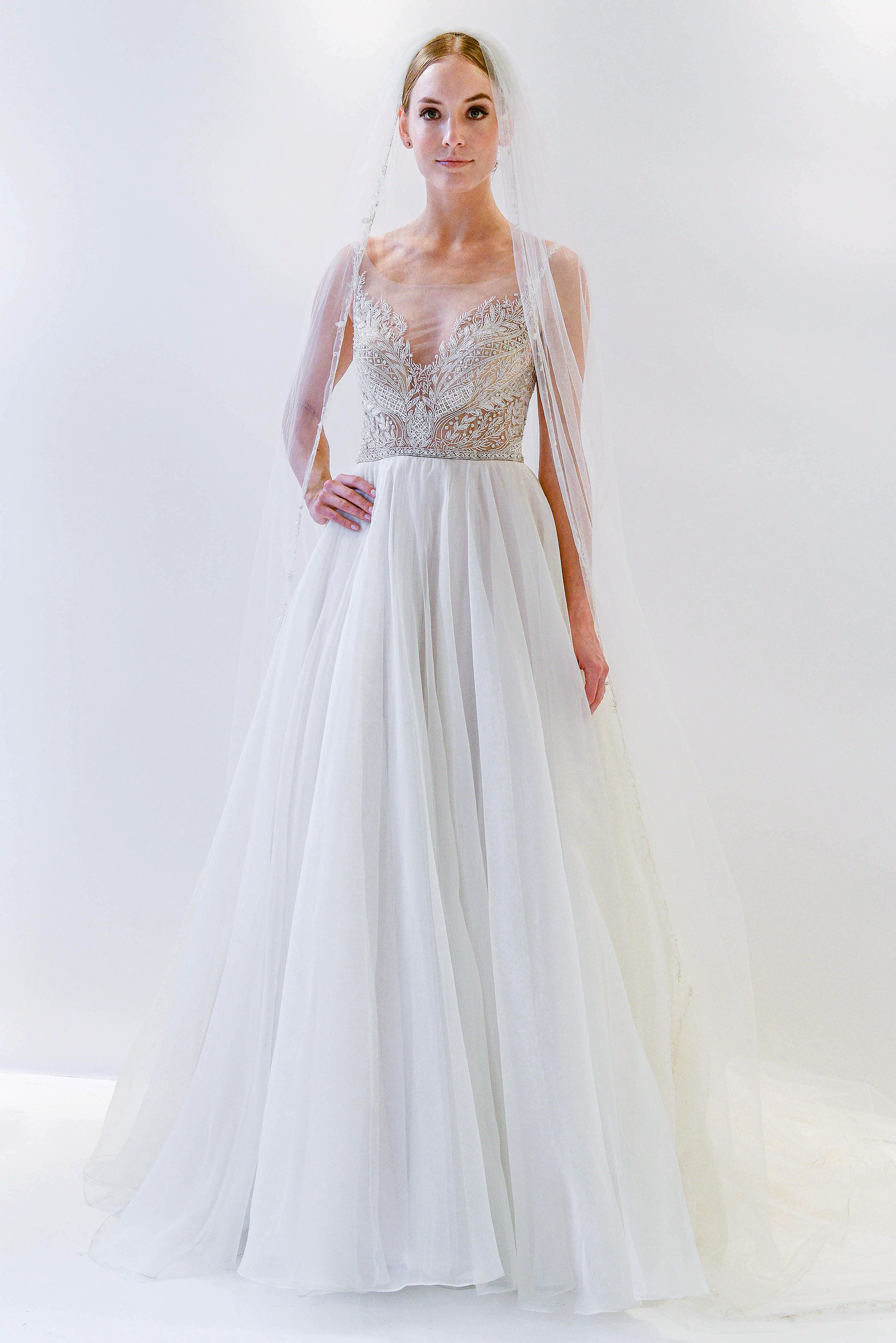 watters embellished top wedding dress spring 2018