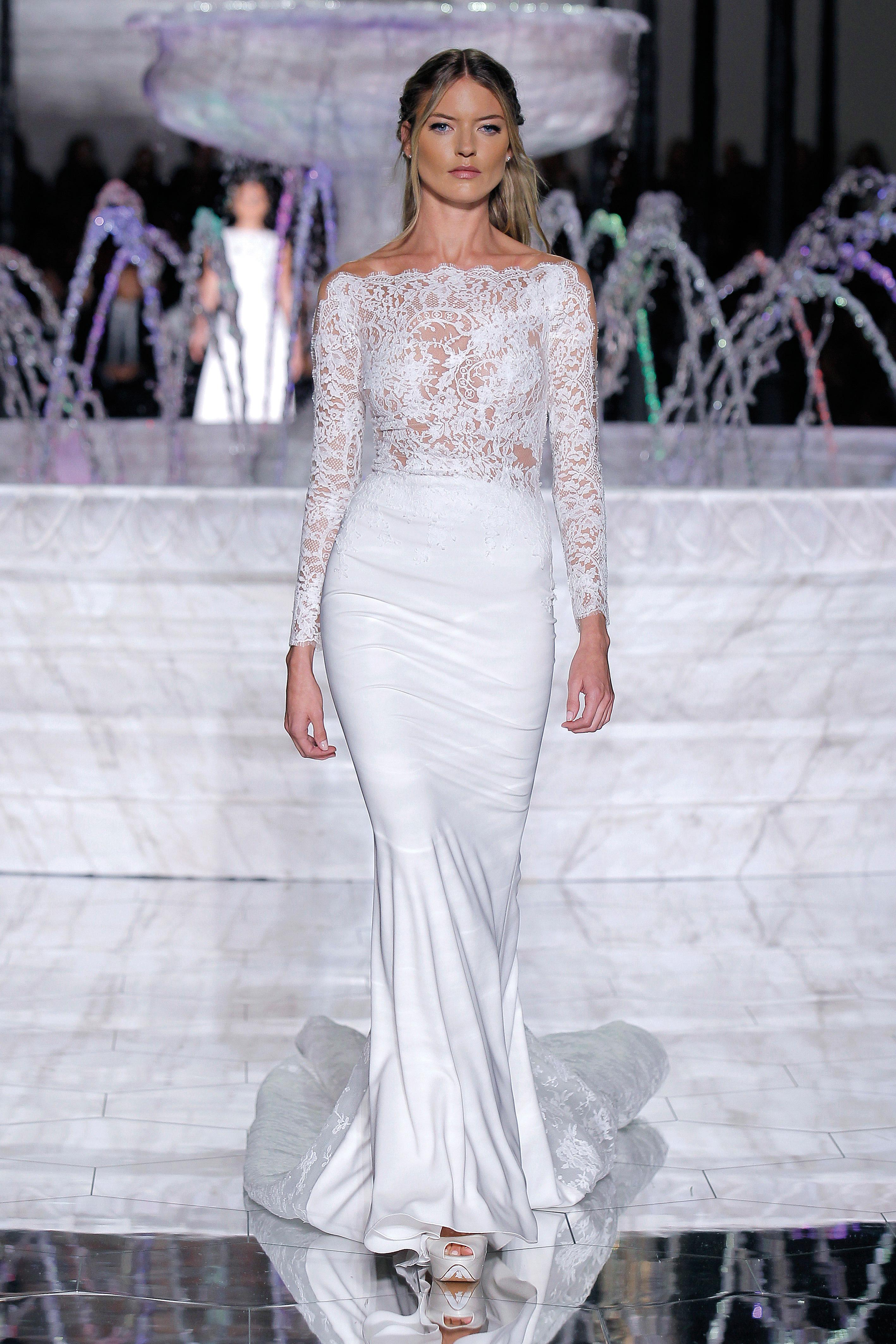 pronovias mermaid wedding dress spring 2018