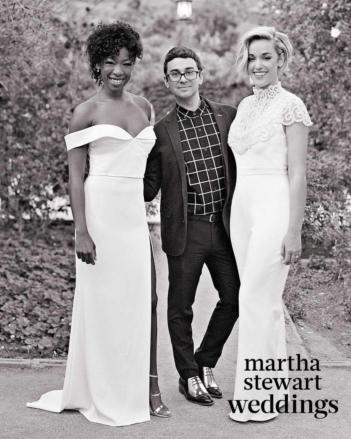 samira wiley lauren morelli wedding christian siriano