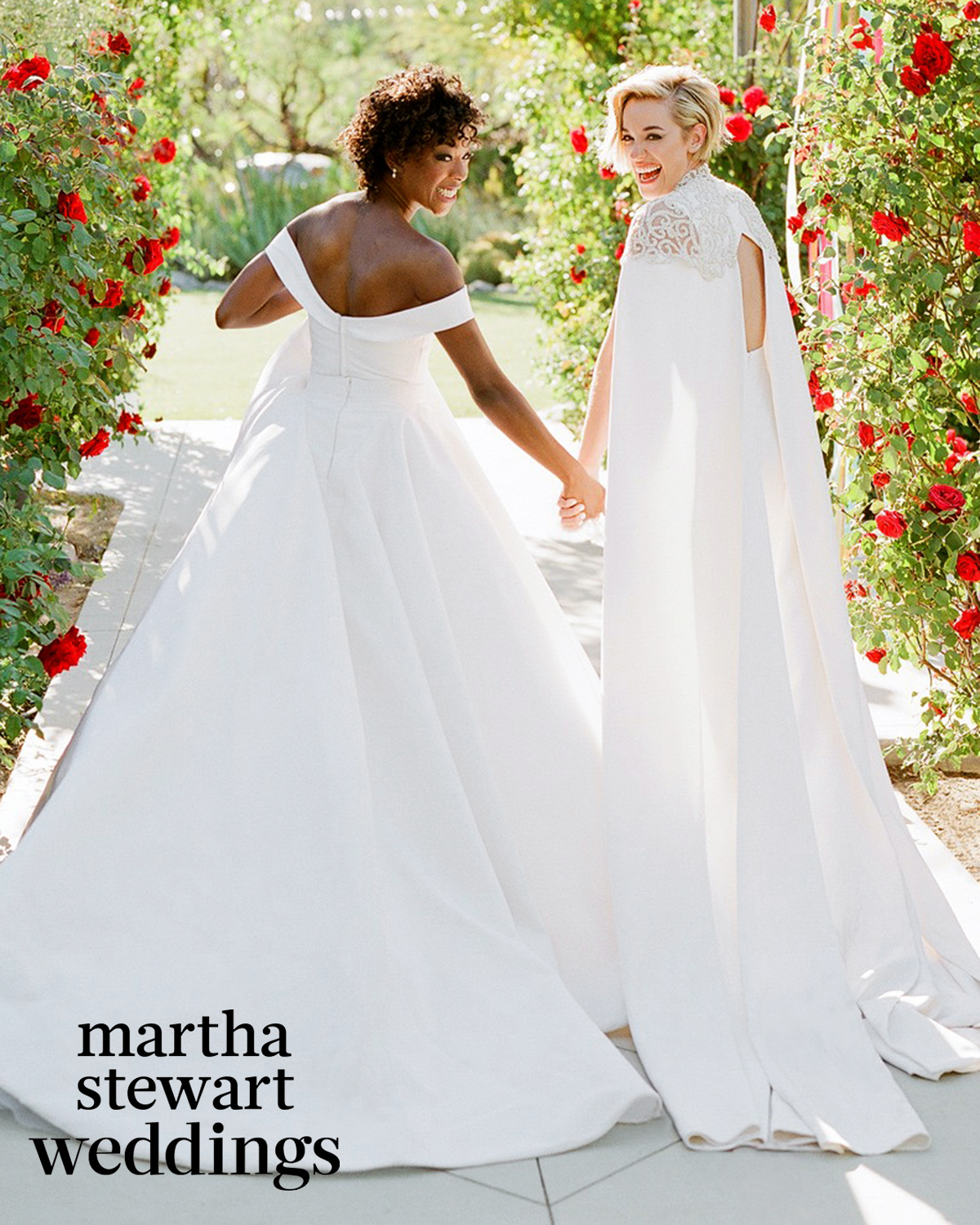 samira wiley lauren morelli wedding portrait