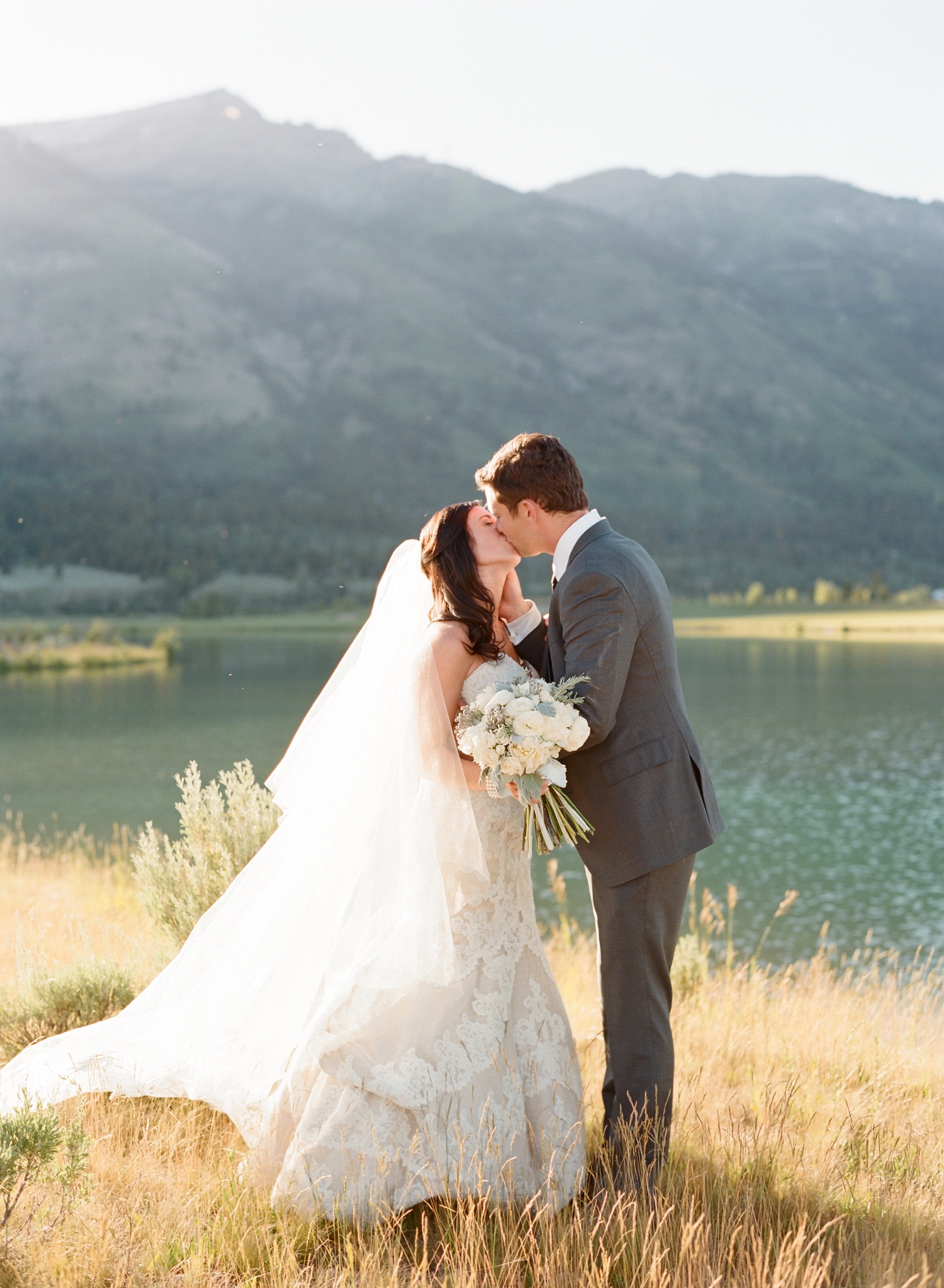 Couple Kissing by the Water