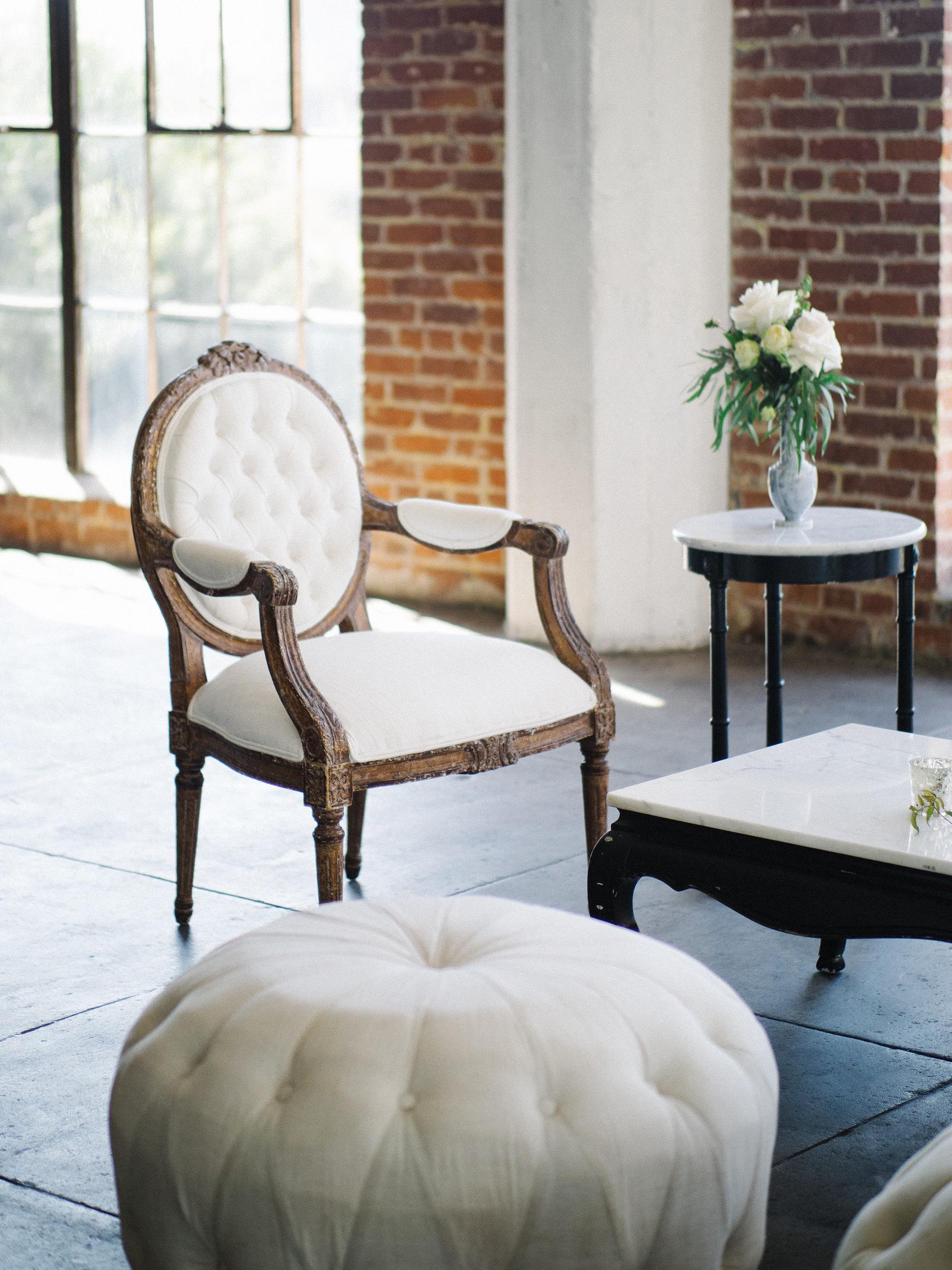 lounge white chair