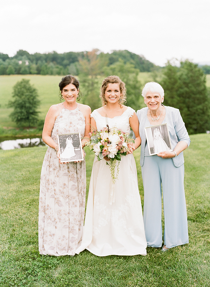 A Bride with Her Mother and Grandmother