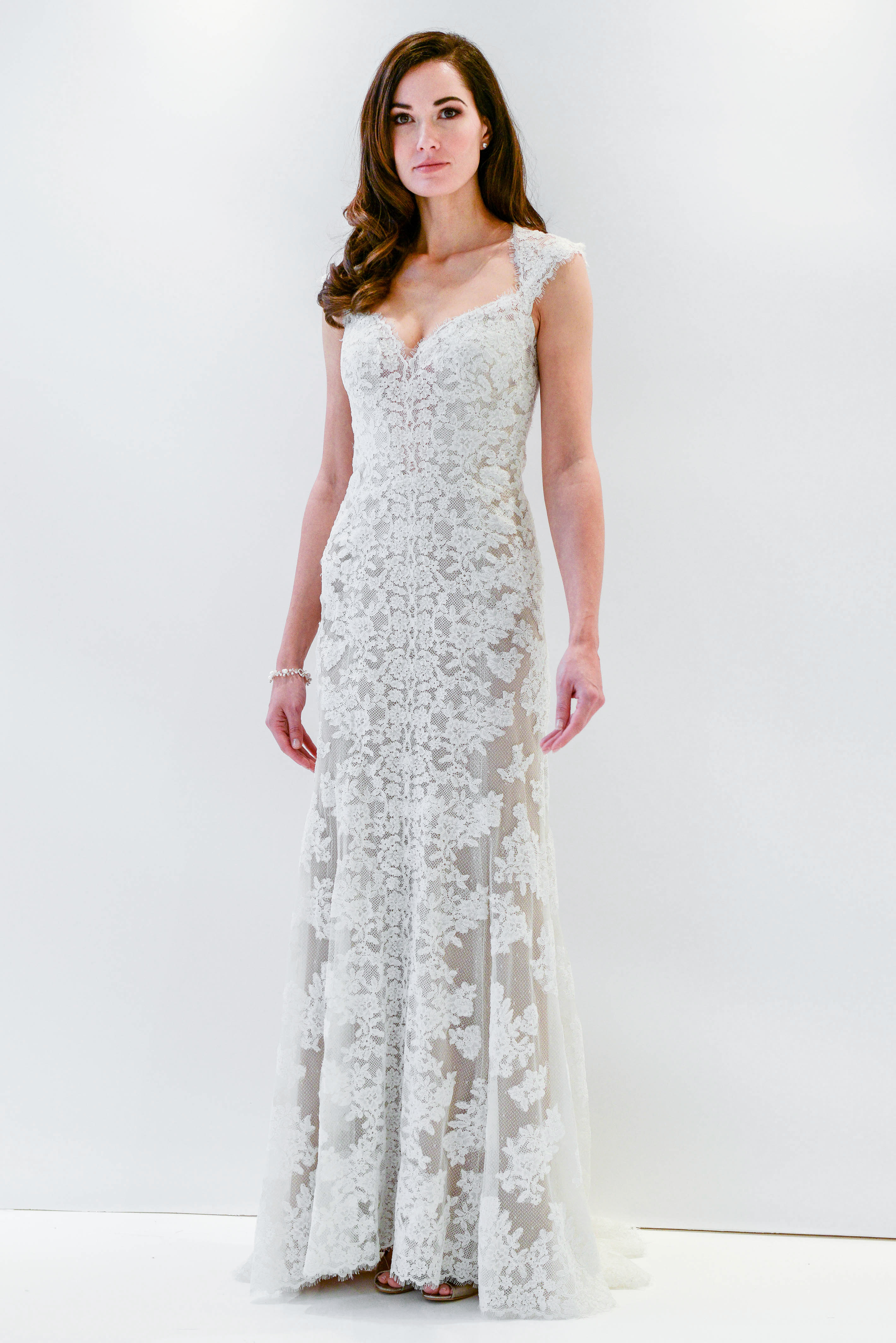 watters wtoo lace sheath sleeveless wedding dress spring 2018