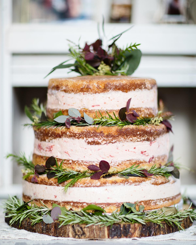 three tiered ice cream wedding cake