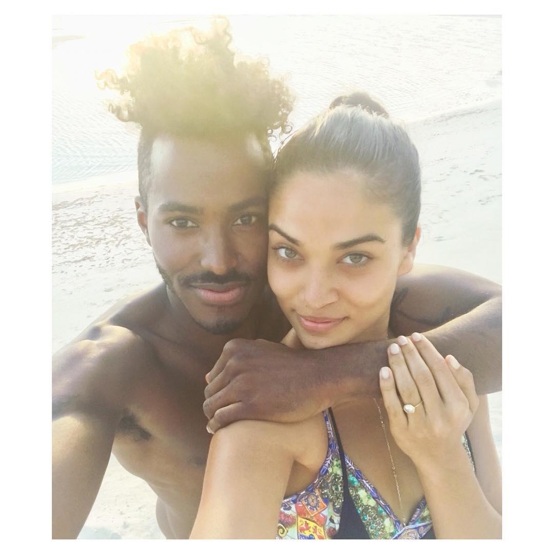 Shanina Shaik and DJ Ruckus