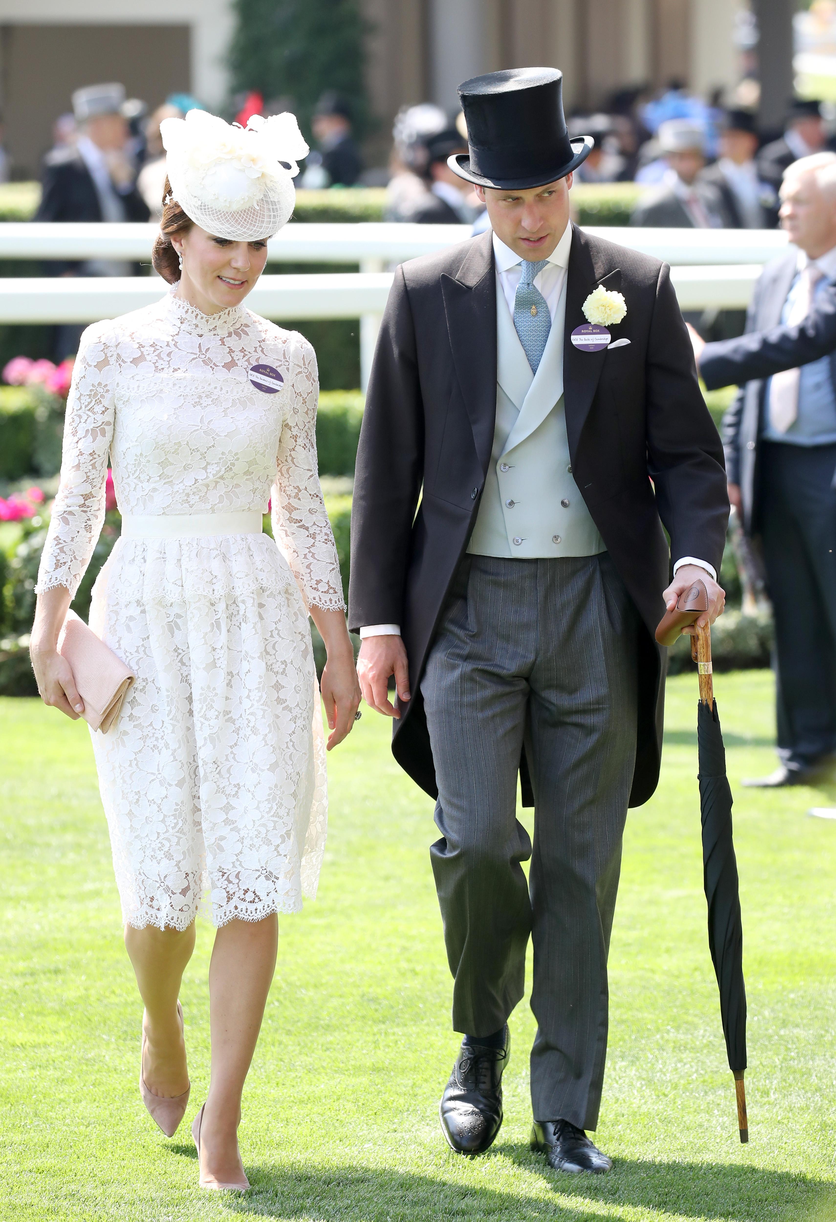 Duchess Kate and Prince William at Royal Ascot 2017