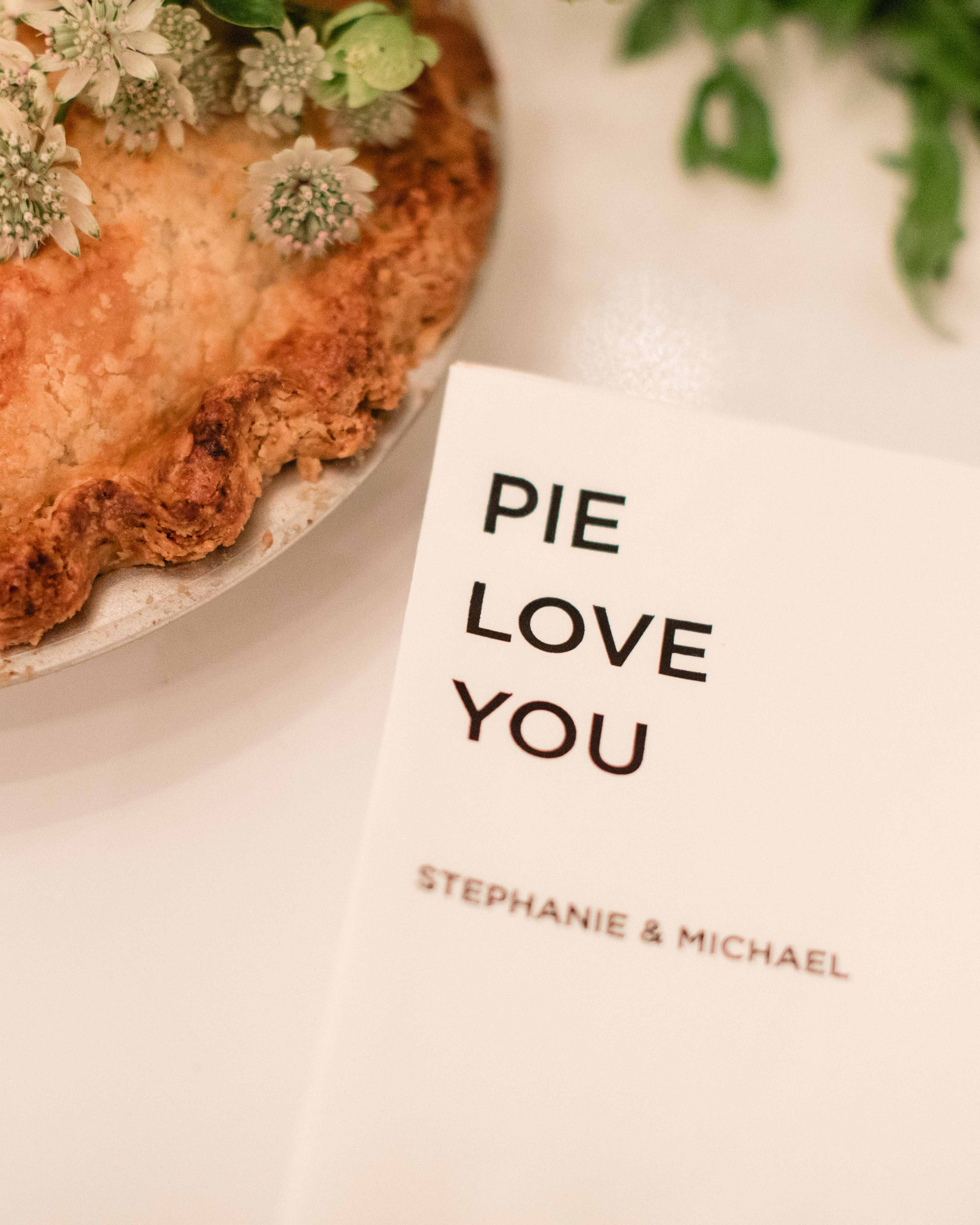 wedding napkin pie