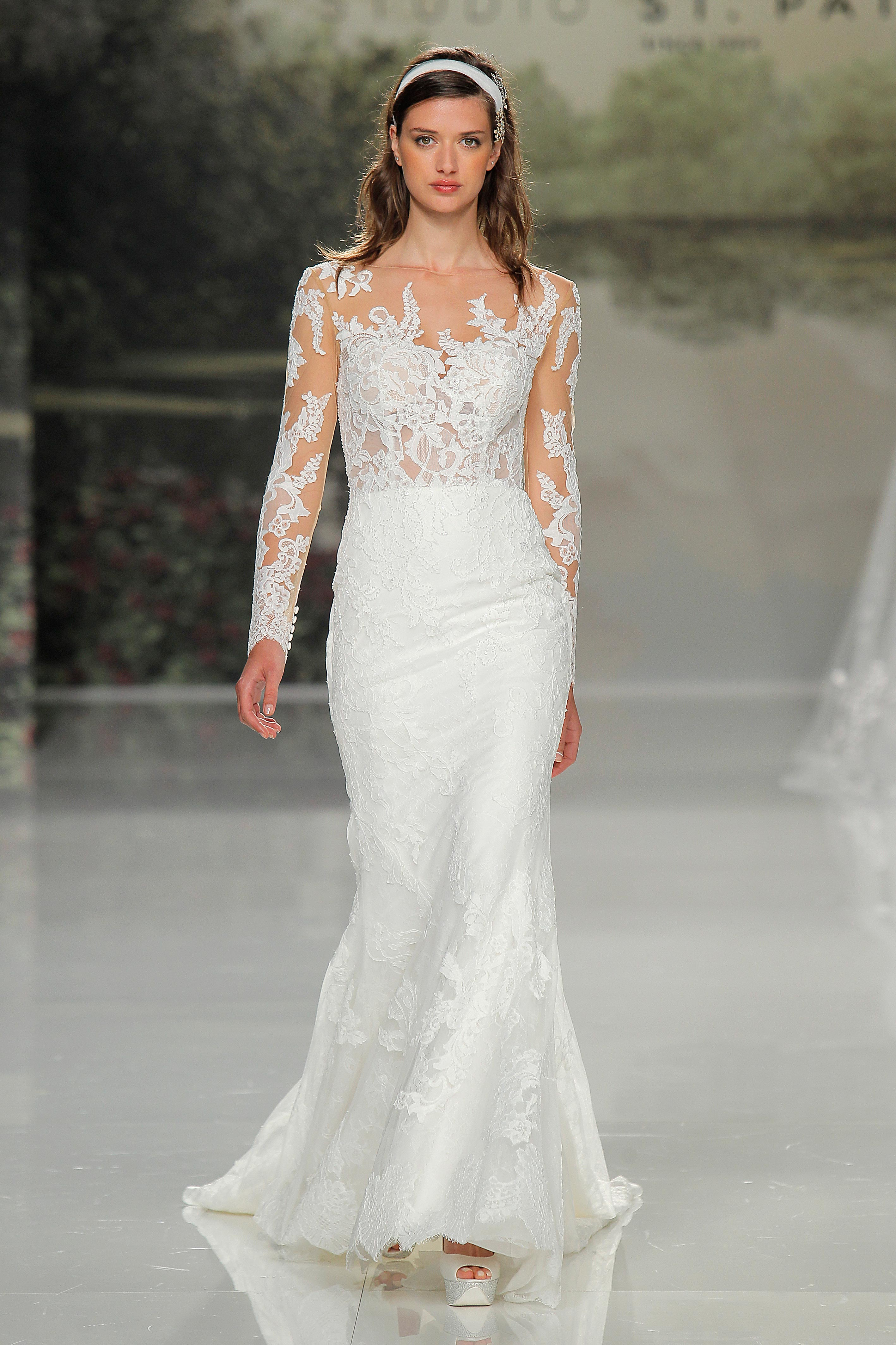 st patrick long sleeve lace spring 2018 wedding gown