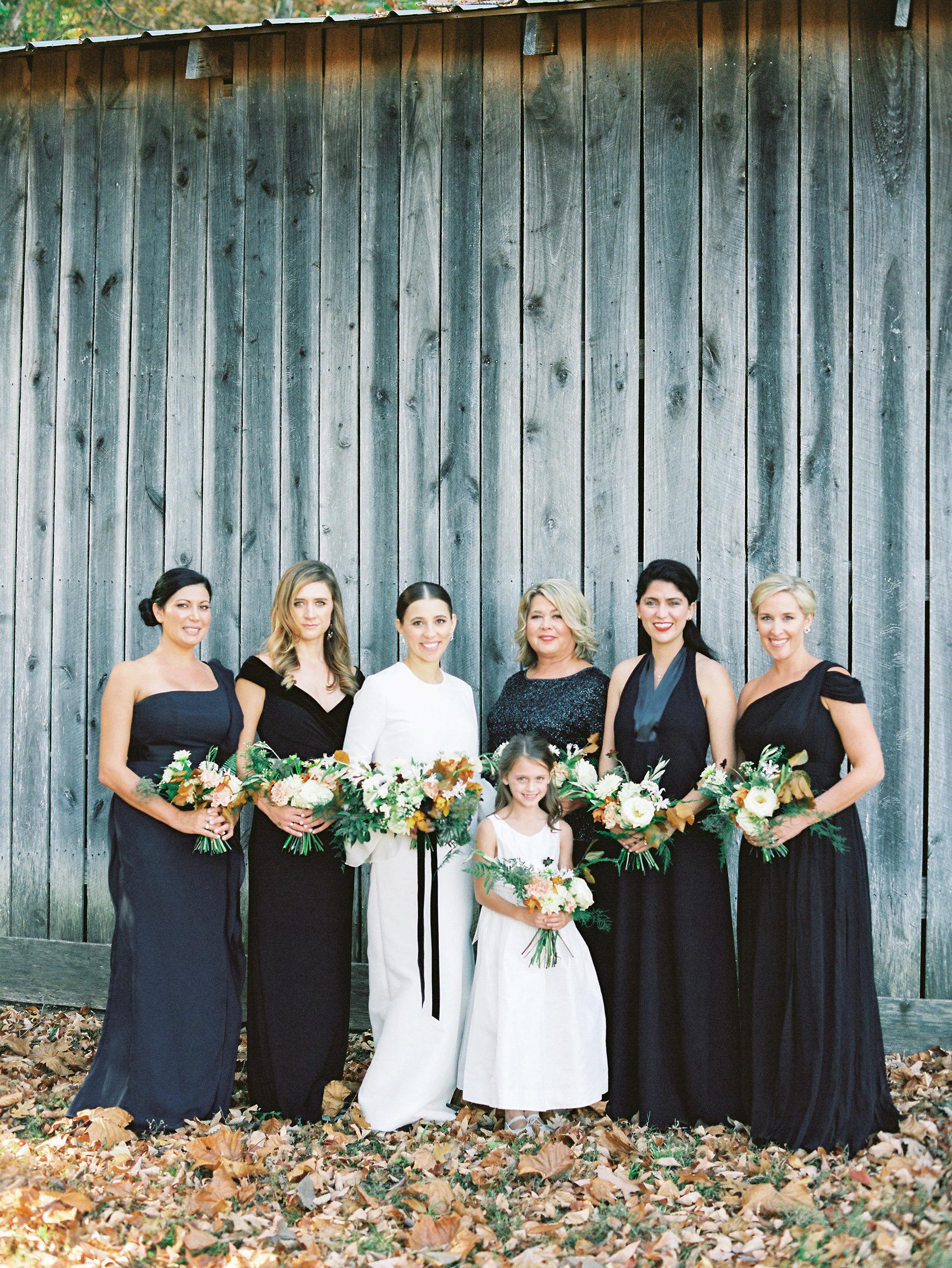 wedding bridesmaids black dresses
