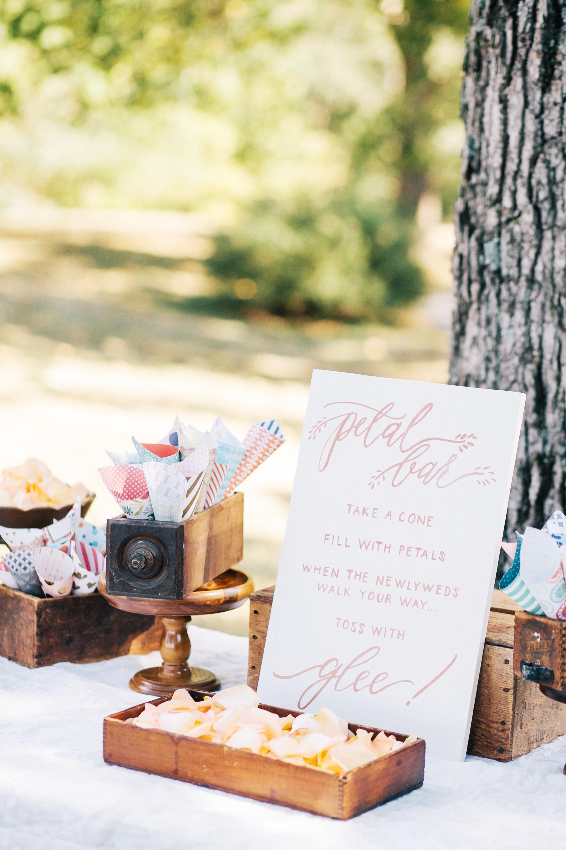 Wedding Flower Petal Bar, Build Your Own Petal Toss