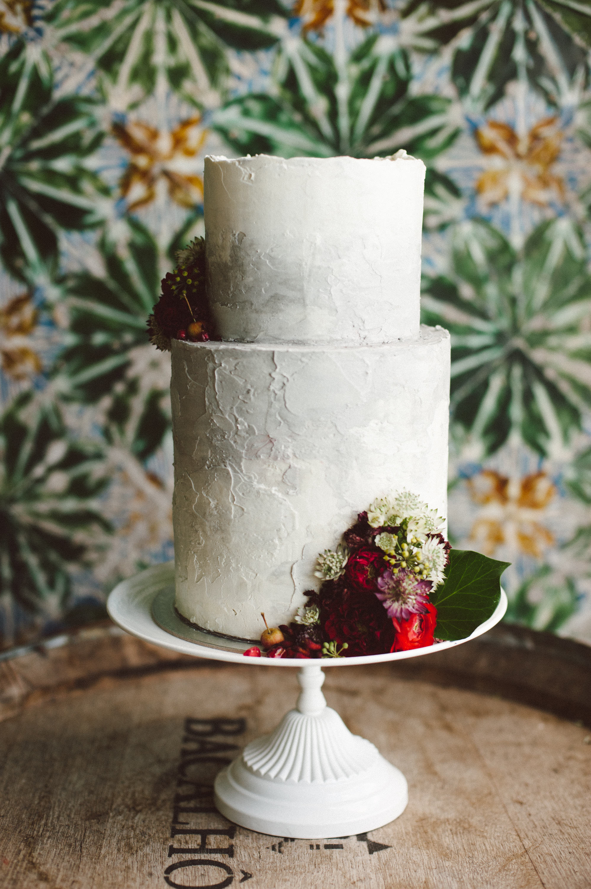 Marbled Wedding Cake with Deckled Edges