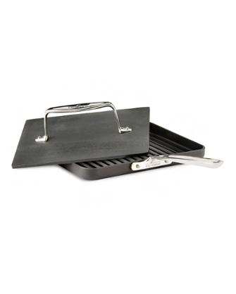 black all-clad nonstick panini press