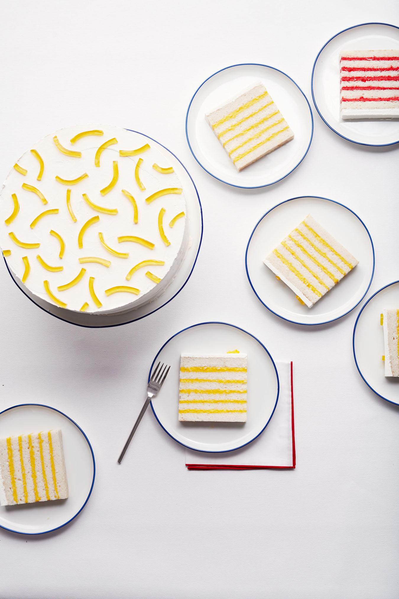 lemon-stripped cake