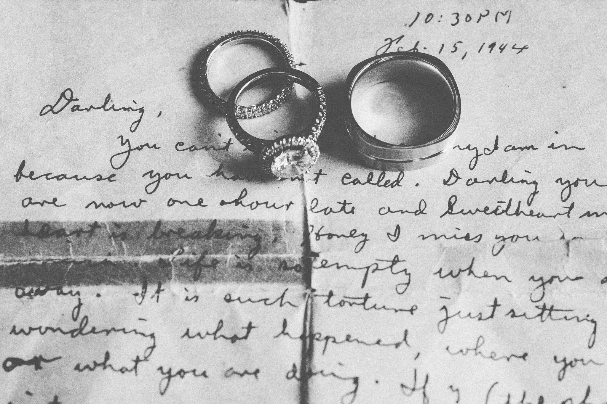 rings on love letter