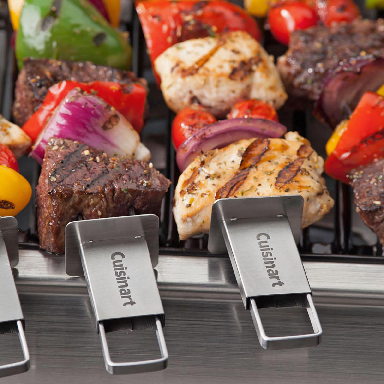 zola cuisinart grill sliding grilling skewer