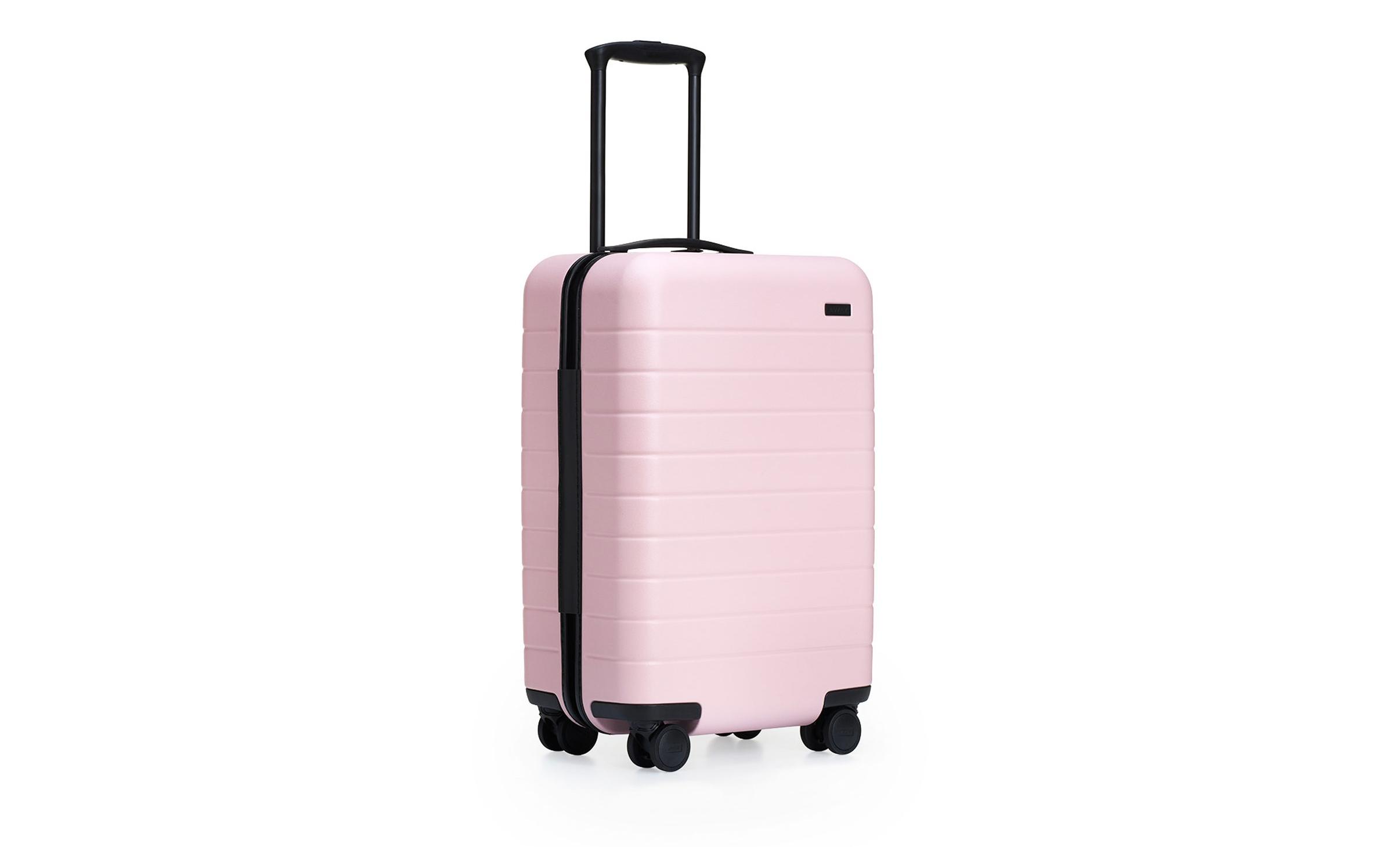 pink registry luggage