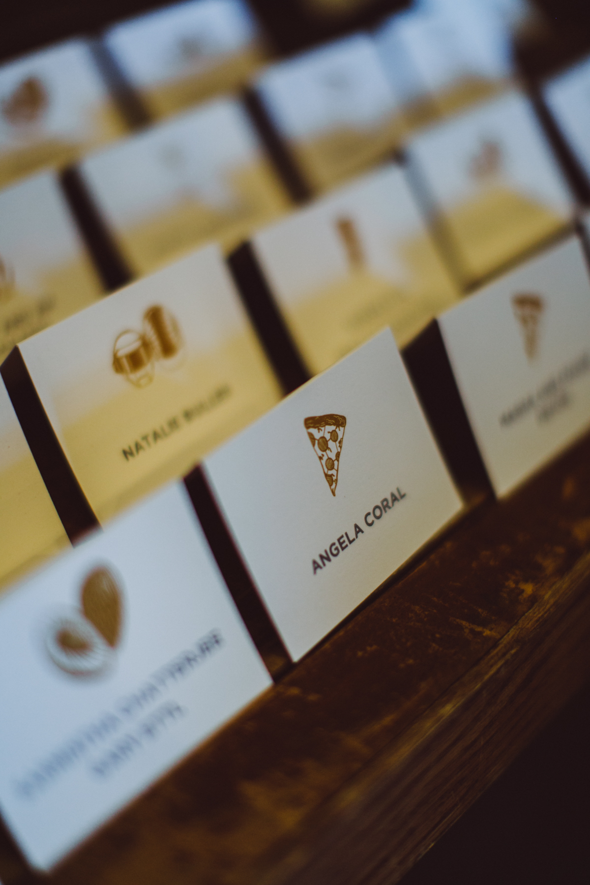 pizza place card