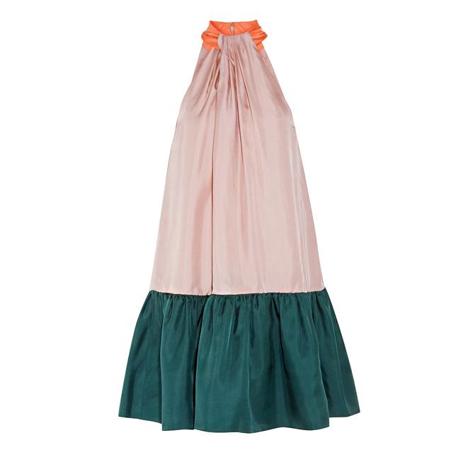 roksanda elva color-block halter midi dress