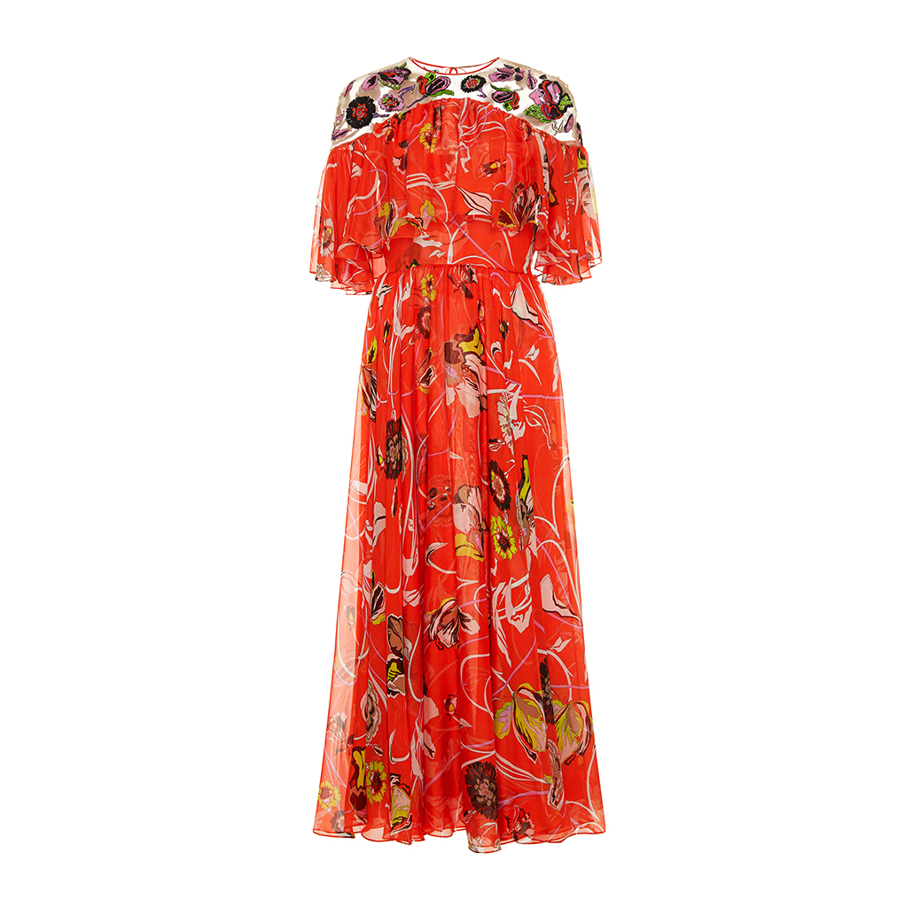 emilio pucci embroidered maxi dress