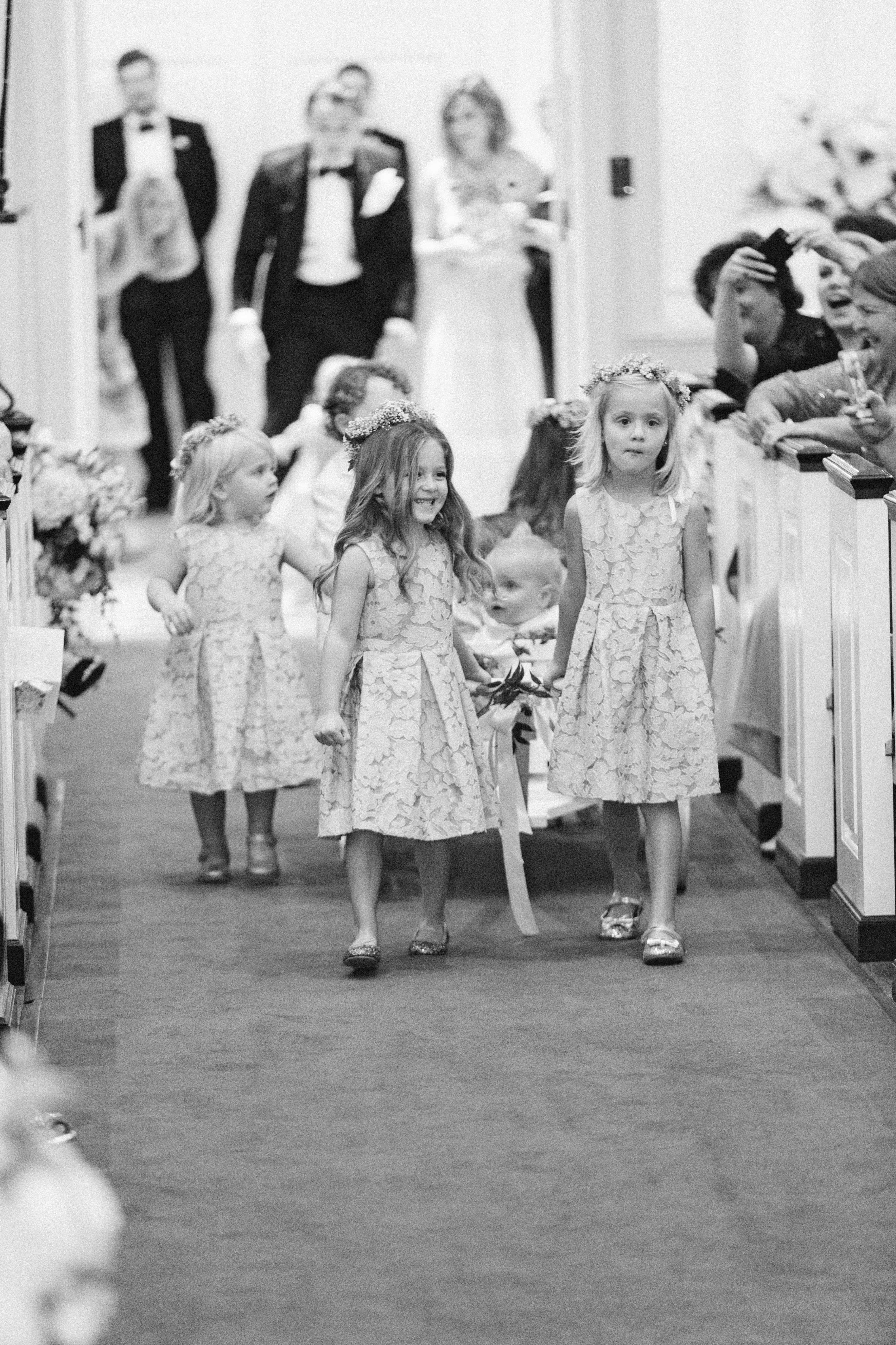 natalie jamey wedding ceremony flower girls