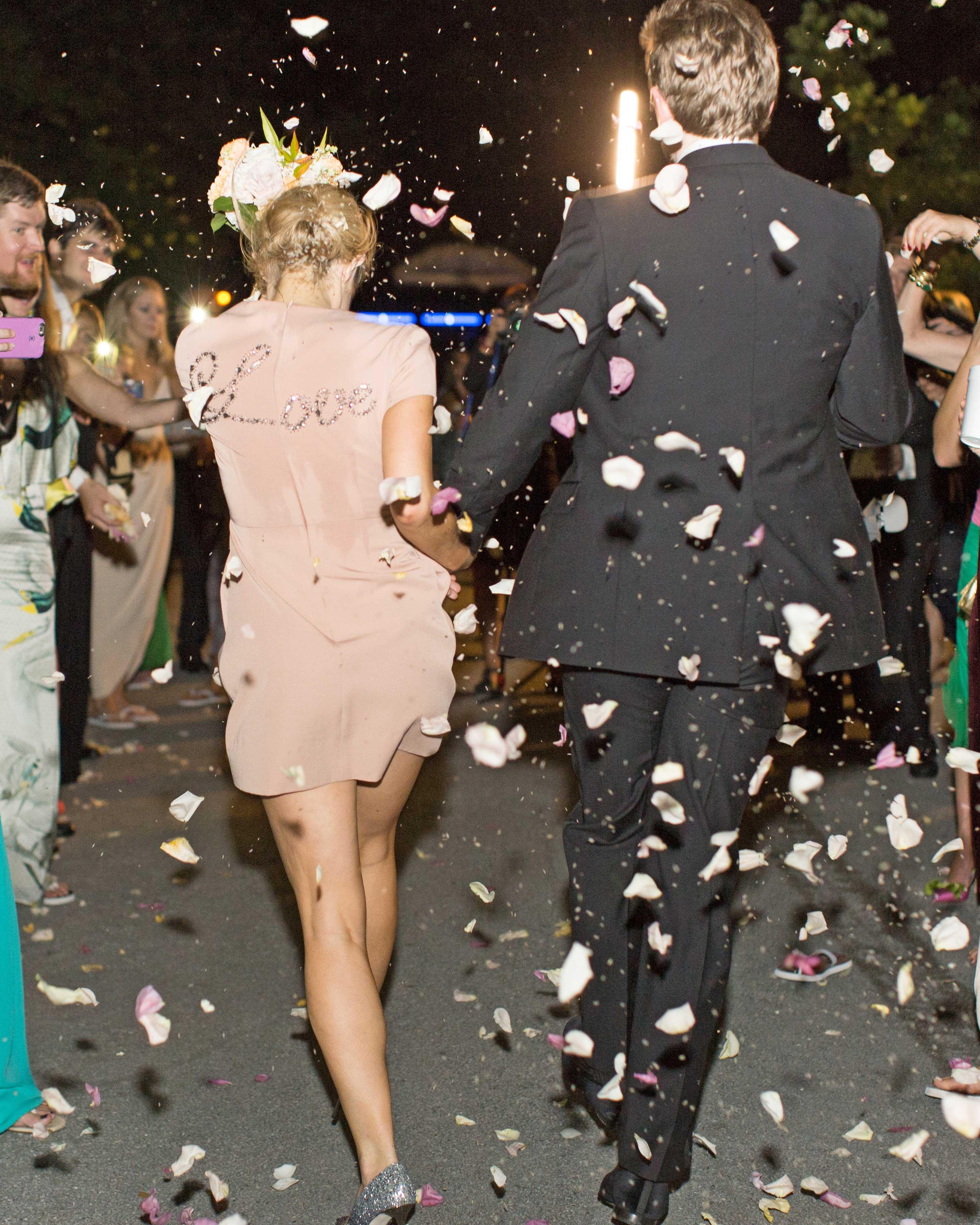 natalie jamey wedding sendoff confetti