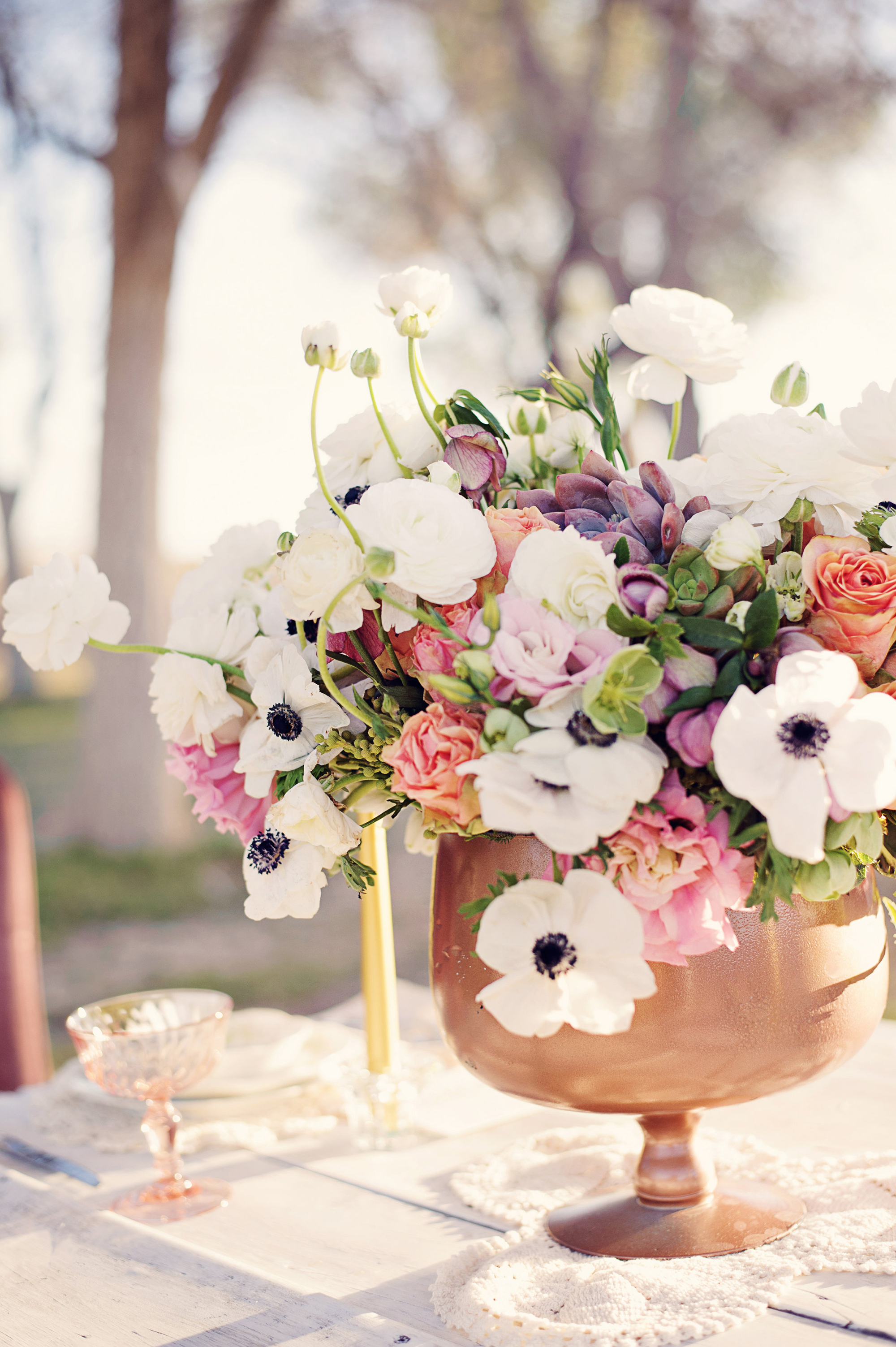 Anemone Summer Centerpiece