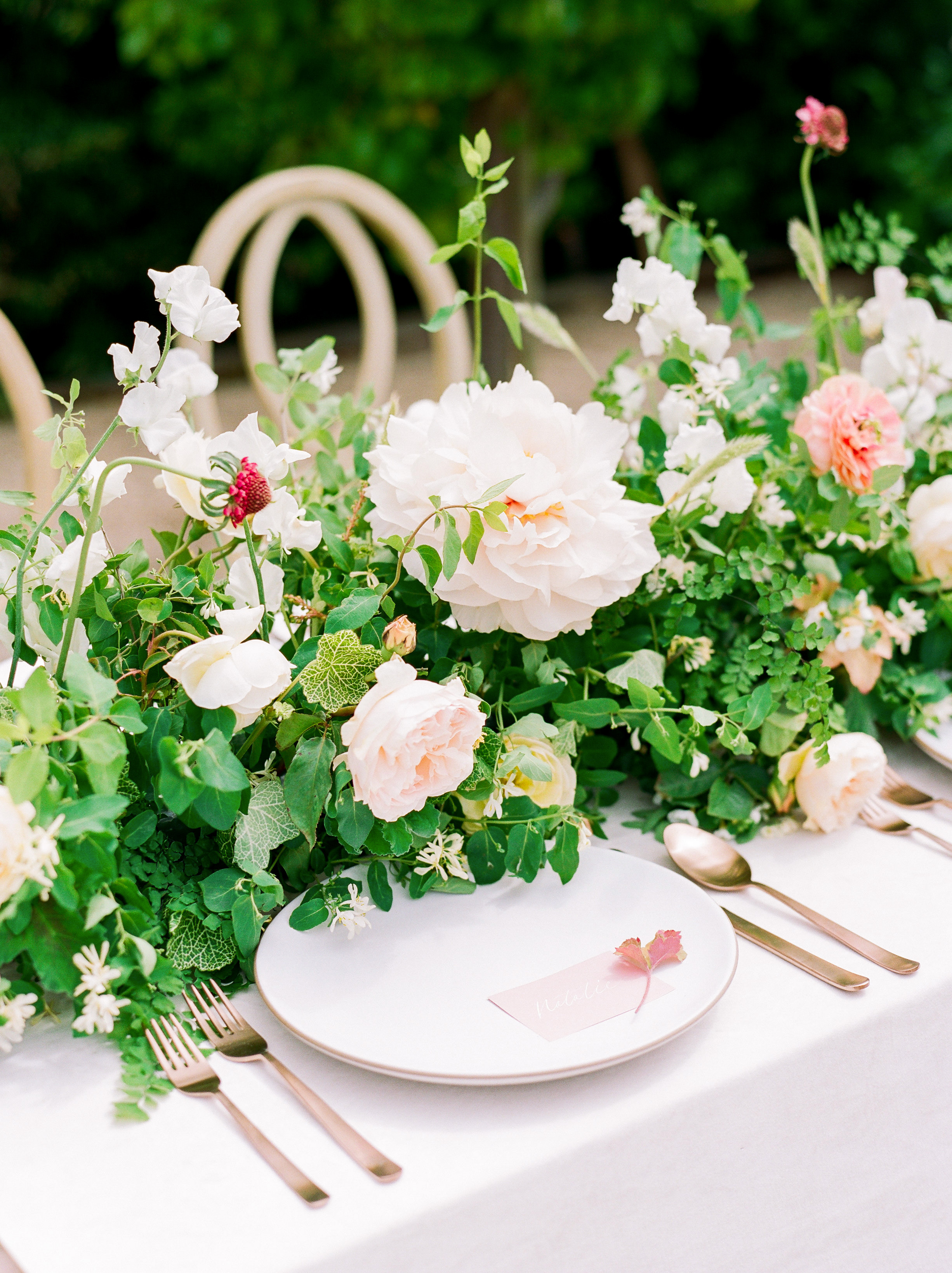 summer wedding centerpieces floral garden party