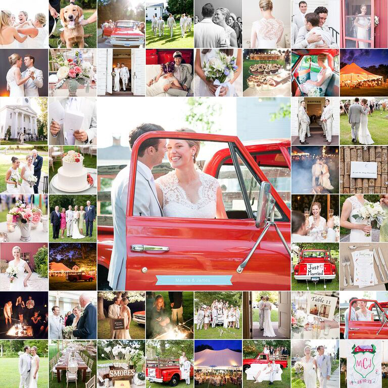 wedding album alternatives blog wall collage