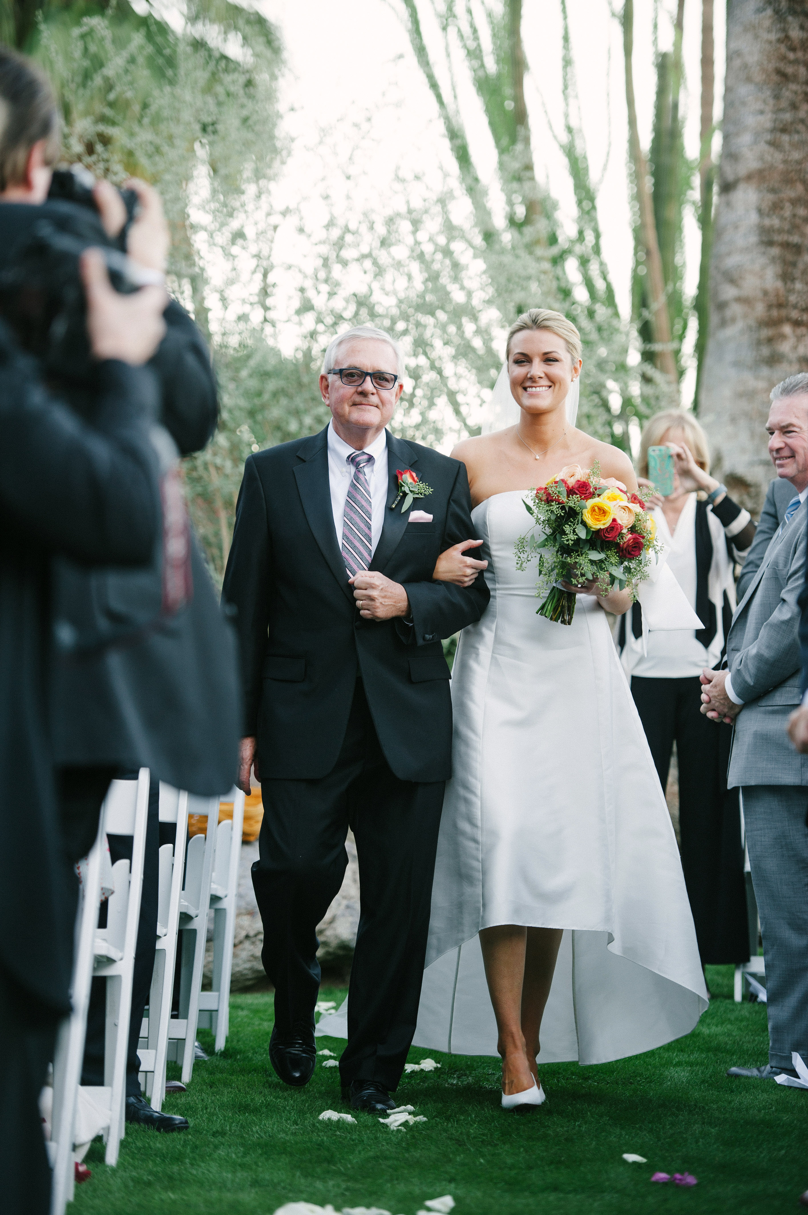 lisa louis wedding processional bride father
