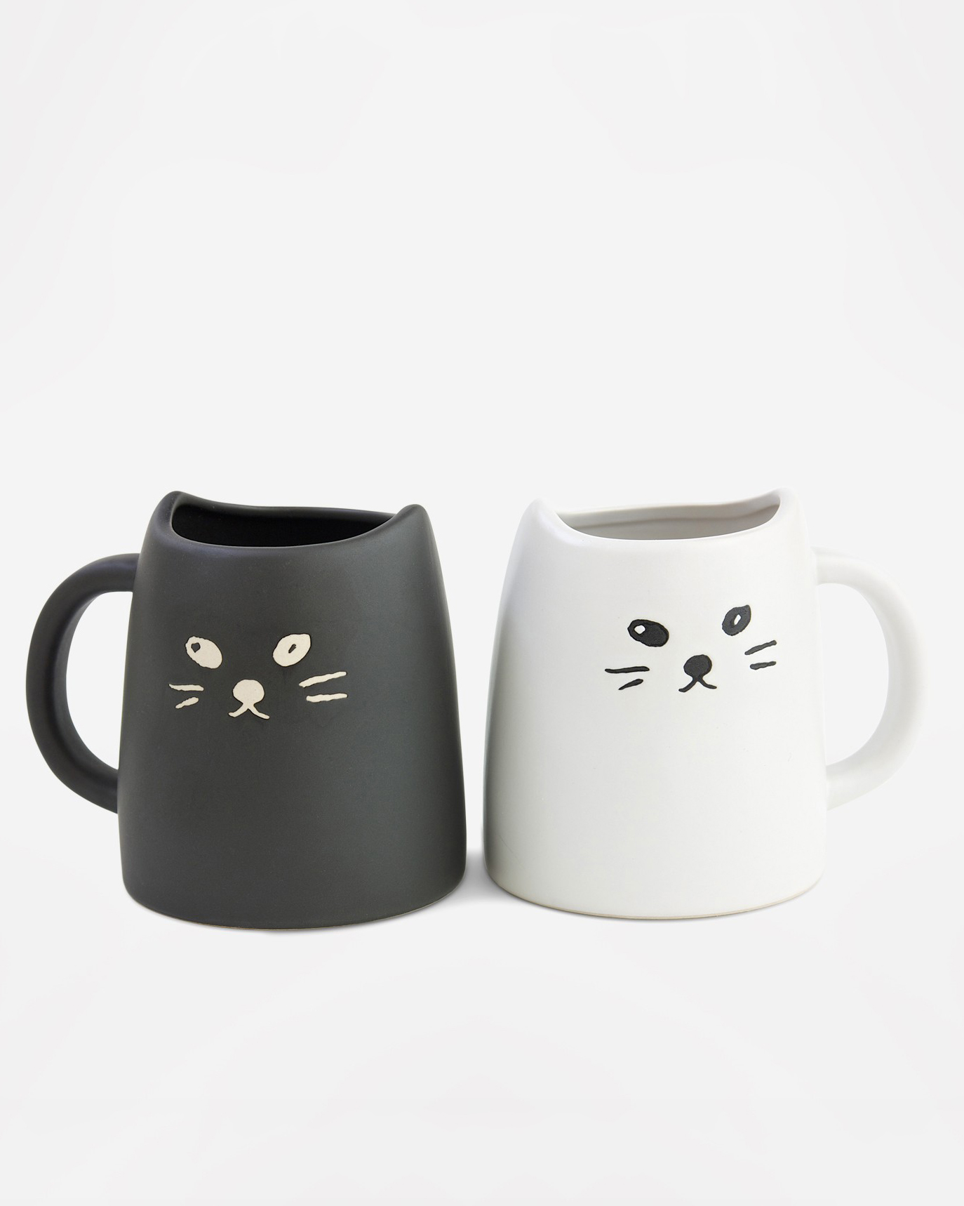 morning registry items miya black white cat two piece mug set