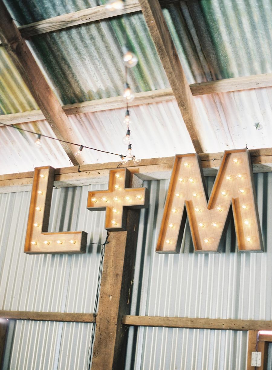 """l + m"" marquee signage"