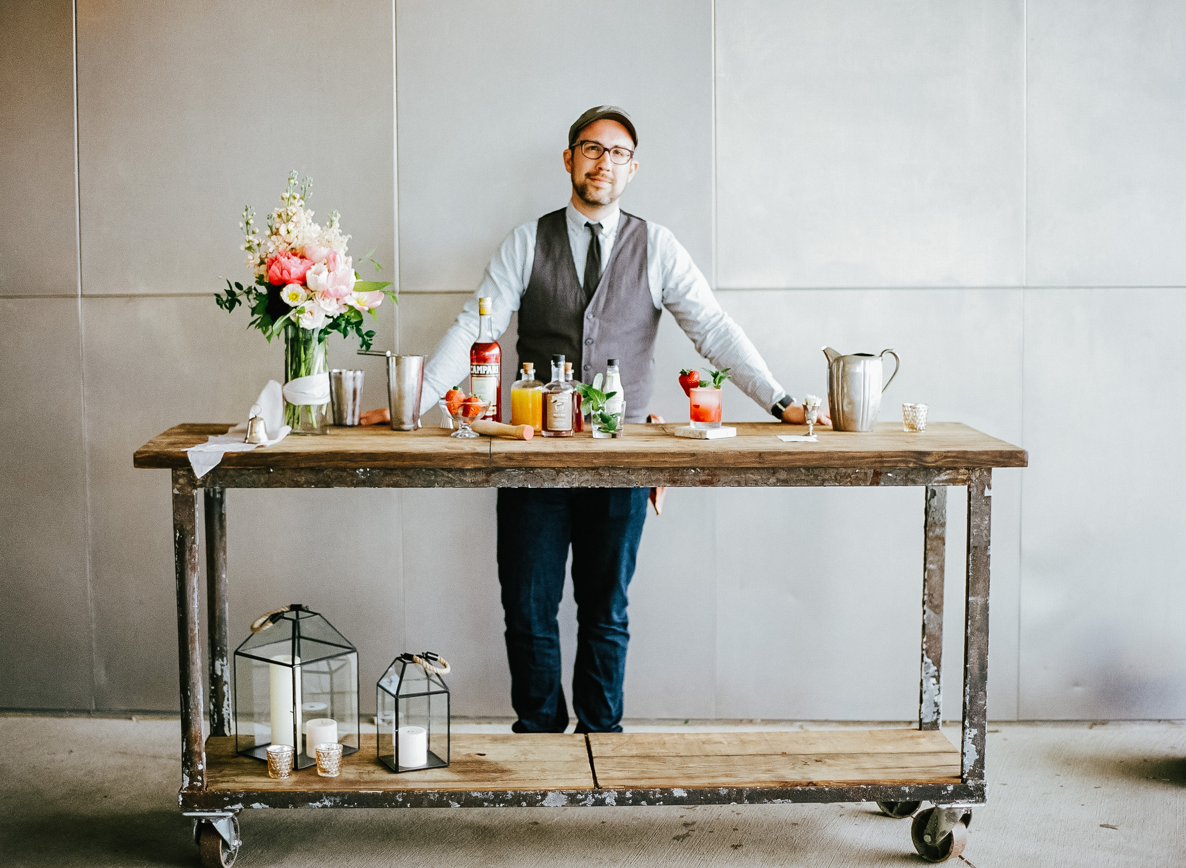 Signature Cocktail Bar Cart