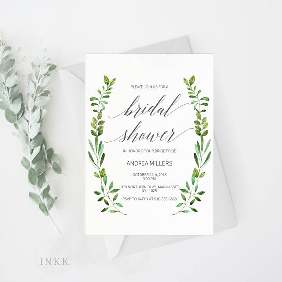 greenery invitations