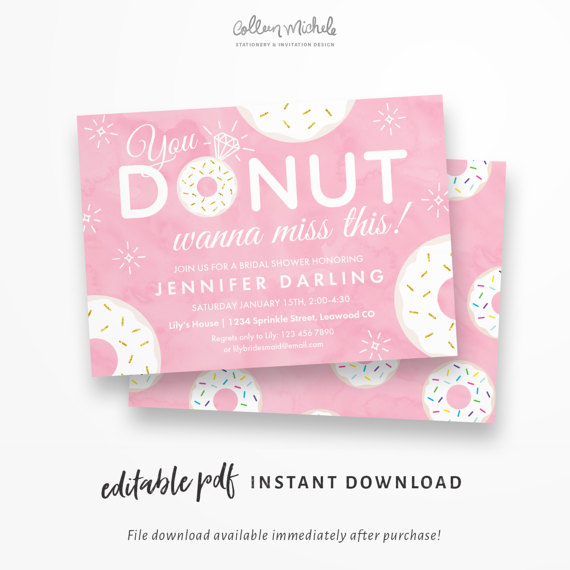 donut invitations