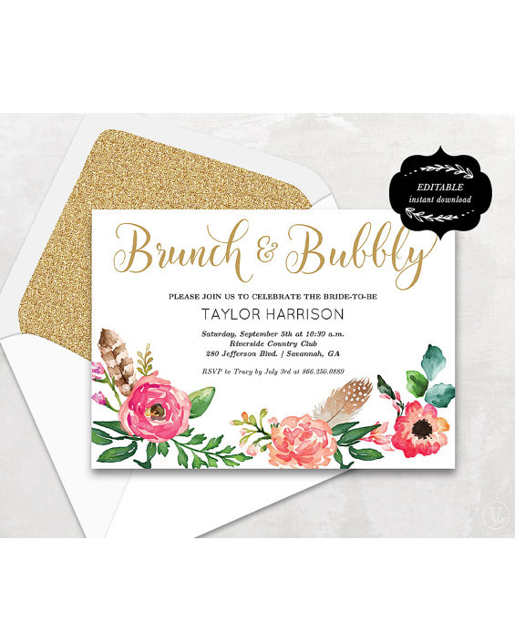 Feather Invitations