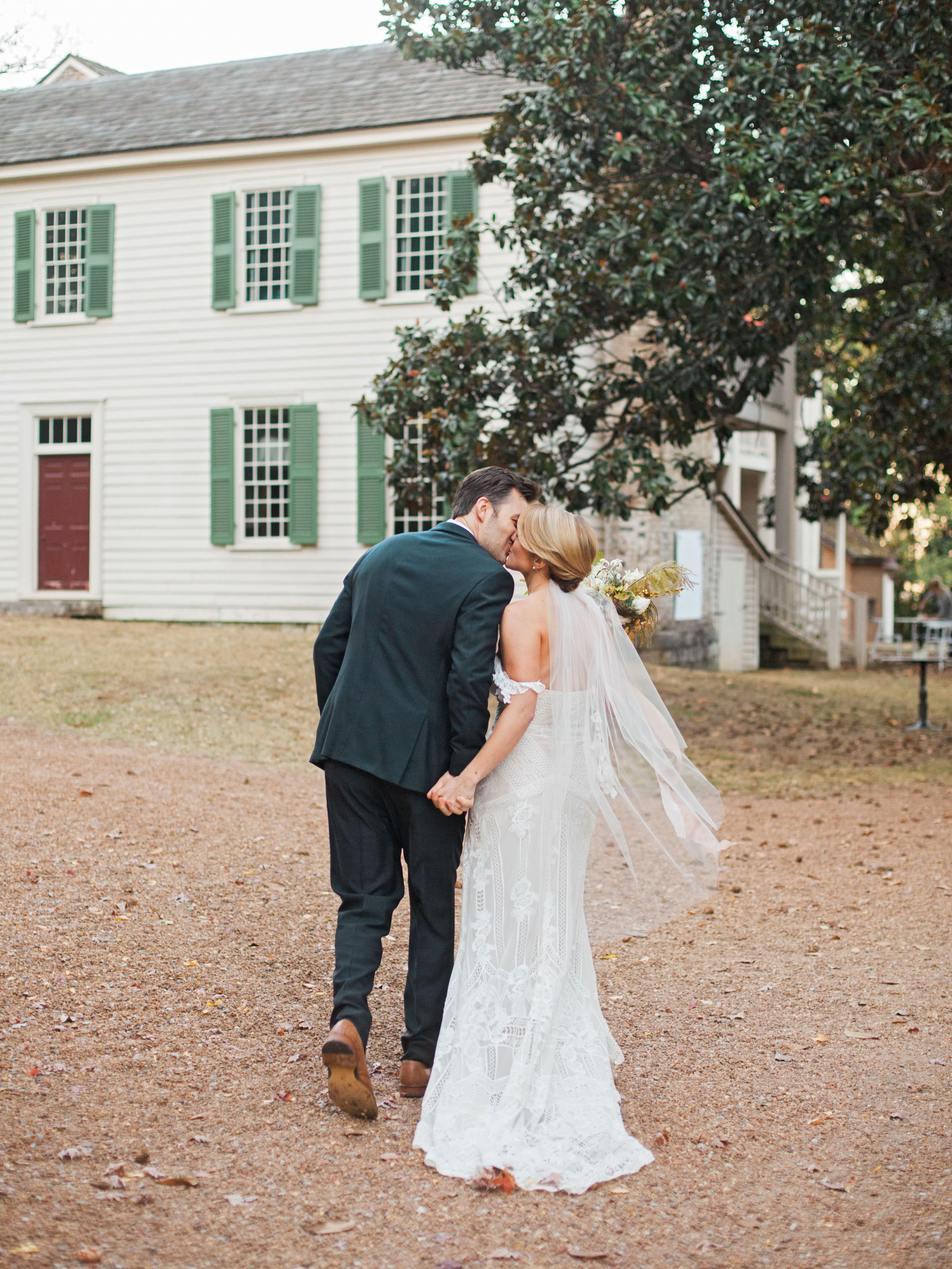 jayme barry wedding couple walking