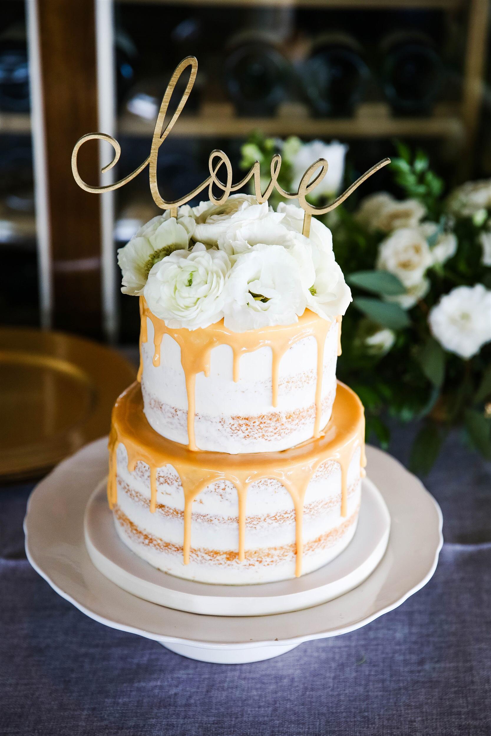 white drip cake