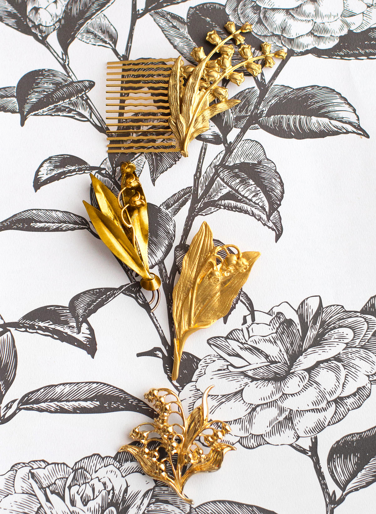 gold combs