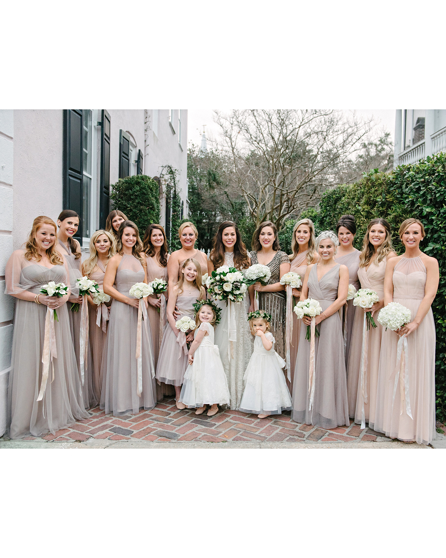 lindsay evan wedding bridesmaids with bouquets