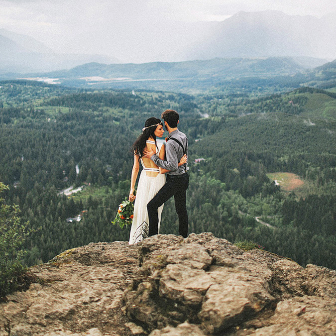 epic elopement locations rattlesnake ridge