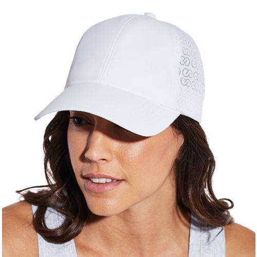 white ball cap