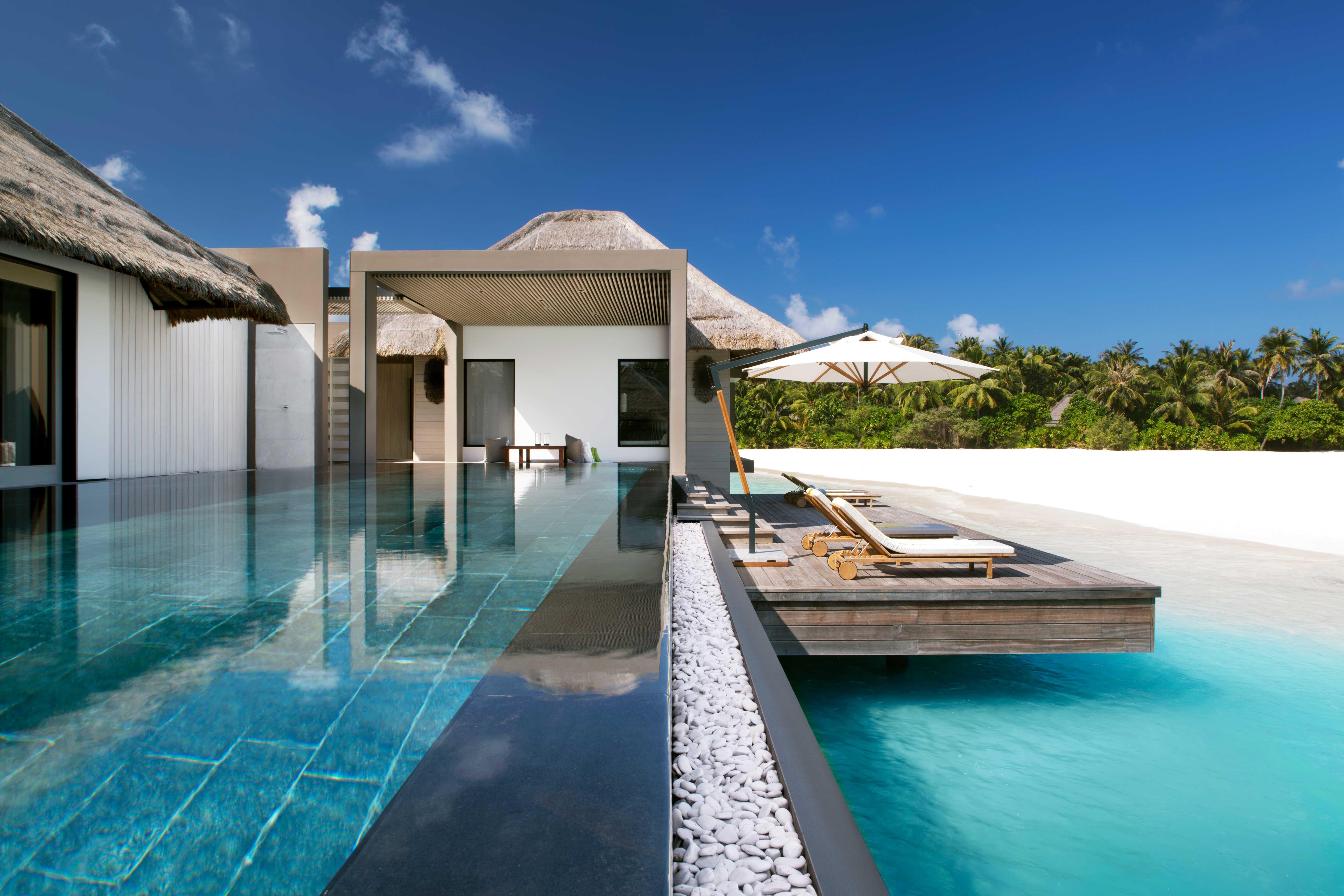honeymoon resort pools lounges