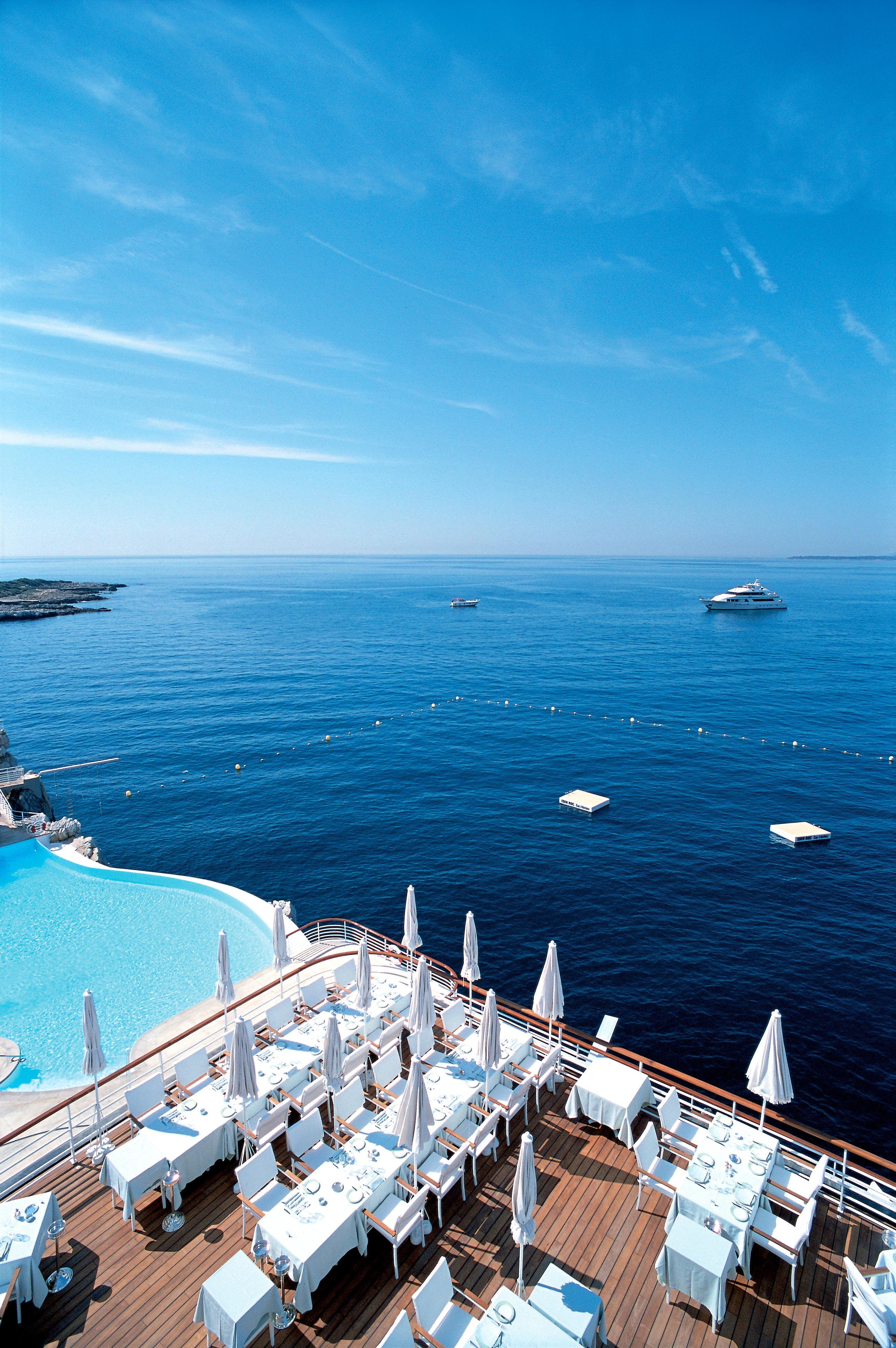 resort deck pool ocean
