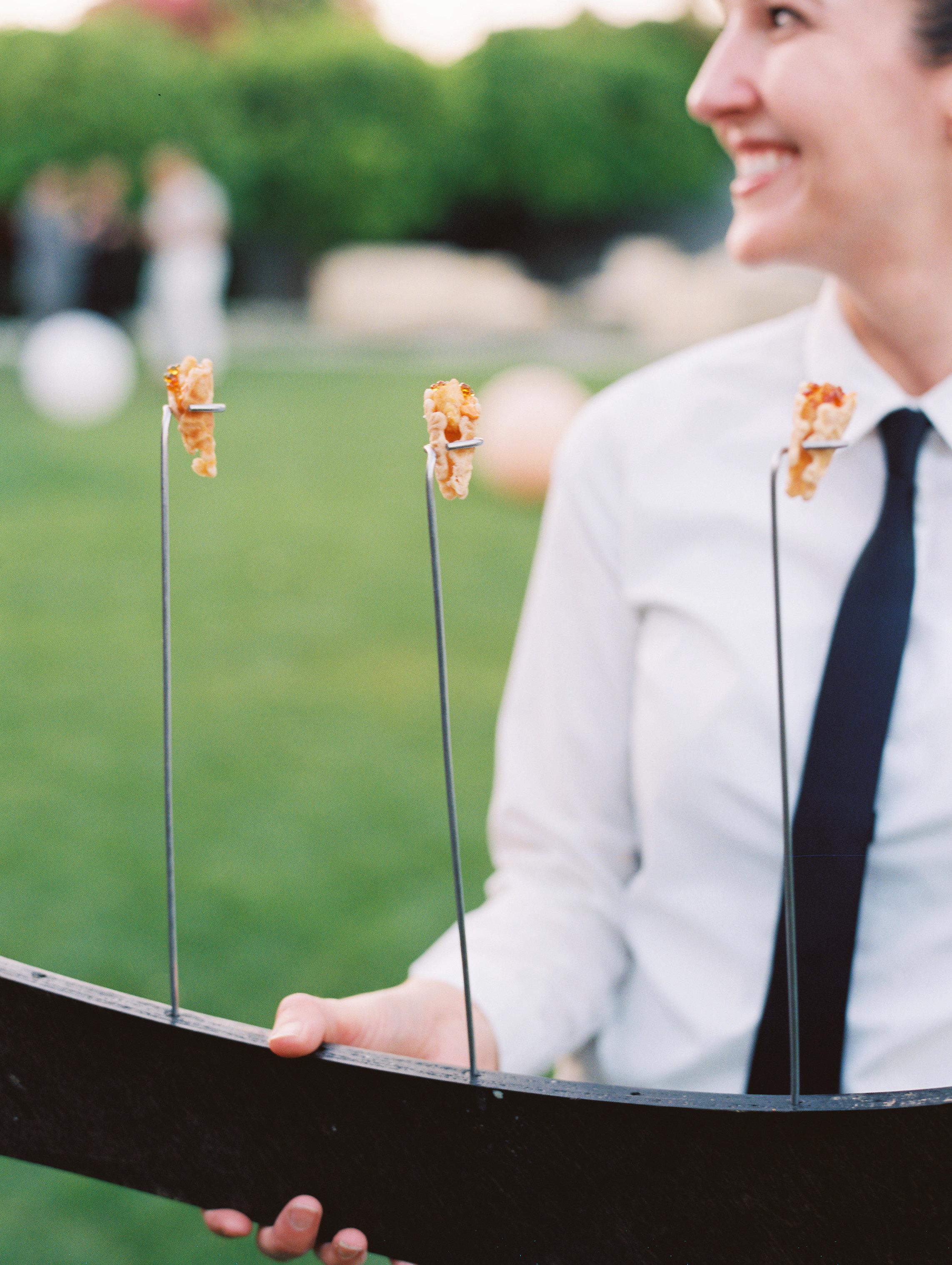 george shawn wedding appetizer
