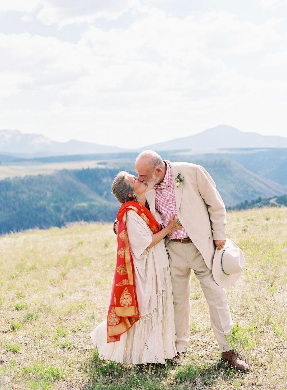 parents kiss