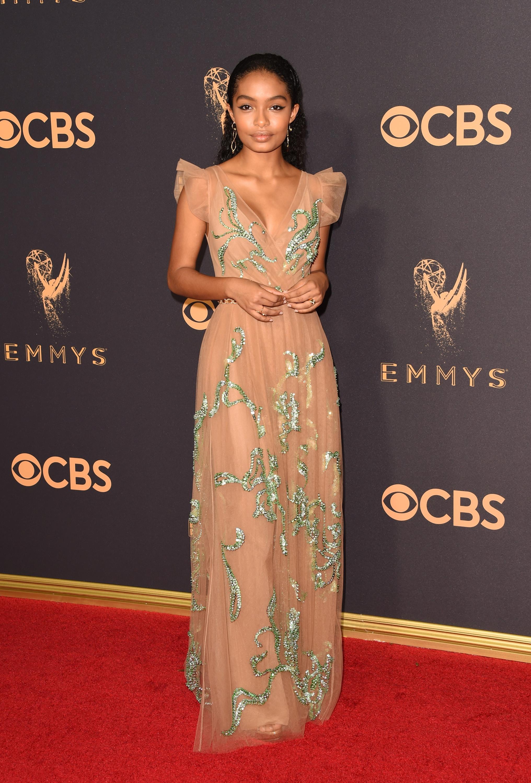 Yara Shahidi Emmys Red Carpet 2017