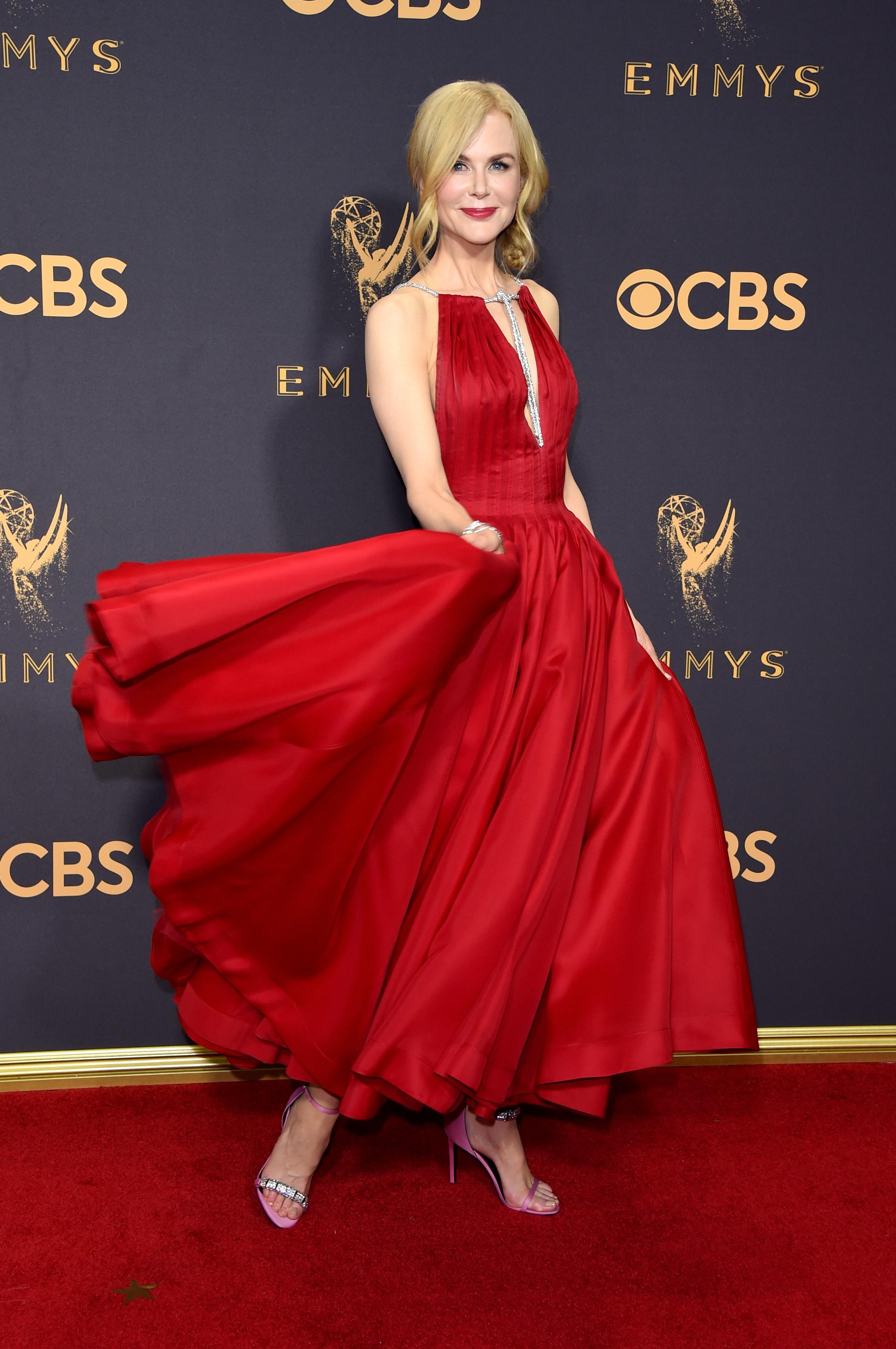 Nicole Kidman Emmys Red Carpet 2017
